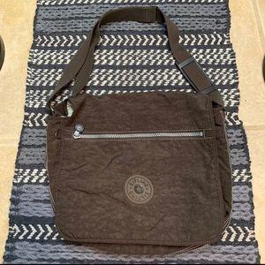 Kipling brown satchel crossbody bag purse
